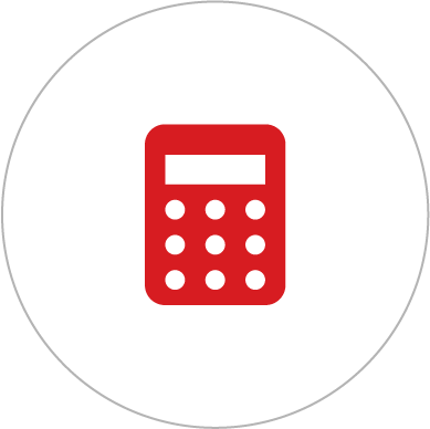 Icon of a calculator.