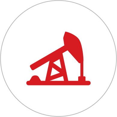 Icon of an oil/gas fracking machine.